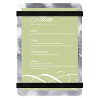 Menu Solutions ALSIN46-RB Alumitique 4 inch x 6 inch Customizable Swirl Aluminum Menu Board with Black Bands