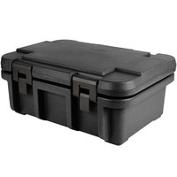 Cambro UPC160110 Camcarrier Ultra Pan Carrier® Black Top Loading 6 inch Deep Insulated Food Pan Carrier