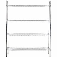 Regency 18 inch x 60 inch NSF Stainless Steel Shelf Kit with 74 inch Posts
