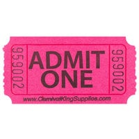 Carnival King Magenta 1-Part Admit One Tickets