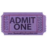 Carnival King Purple 1-Part Admit One Tickets