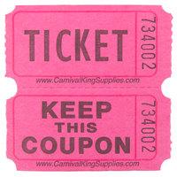 Carnival King Magenta 2-Part Raffle Tickets - 2000/Roll
