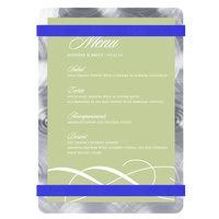 Menu Solutions ALSIN46-RB Alumitique 4 inch x 6 inch Customizable Swirl Aluminum Menu Board with Royal Blue Bands
