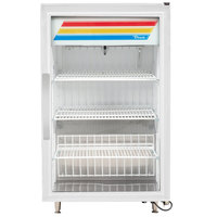 True GDM-07-HC~TSL01 24 inch White Countertop Display Refrigerator with Swing Door