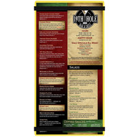 Menu Solutions ACRB-B Yellow 5 1/2 inch x 11 inch Customizable Acrylic Menu Board with Rubber Band Straps