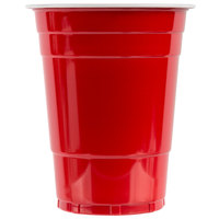 Choice 16 oz. Red Plastic Cup - 50/Pack