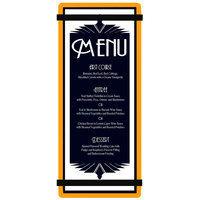 Menu Solutions ACRB-BA Orange 4 1/4 inch x 11 inch Customizable Acrylic Menu Board with Rubber Band Straps