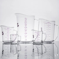 Cambro Camwear 5-Piece Allergen Free Measuring Cup Set