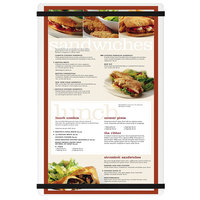 Menu Solutions ACRB-D Clear Frosted 8 1/2 inch x 14 inch Customizable Acrylic Menu Board with Rubber Band Straps