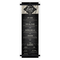 Menu Solutions ACRB-BD Clear Frosted 4 1/4 inch x 14 inch Customizable Acrylic Menu Board with Rubber Band Straps