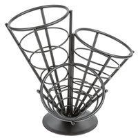 American Metalcraft FCB33 Wrought Iron 3-Cone Basket - 10 1/2 inch x 10 inch