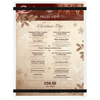Menu Solutions ACRB-C Clear Frosted 8 1/2 inch x 11 inch Customizable Acrylic Menu Board with Rubber Band Straps