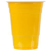 Choice 16 oz. Yellow Plastic Cup - 50/Pack