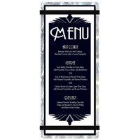Menu Solutions ALSIN41-RB Alumitique 4 1/4 inch x 11 inch Customizable Swirl Aluminum Menu Board with Black Bands