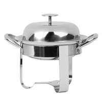 World Tableware MCD-6 15 oz. Round Stainless Steel Personal Chafing Dish Set - 12/Case