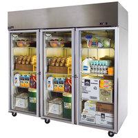 Master-Bilt MNR803SSG/0 Endura 83 inch Glass Door Reach-In Refrigerator