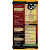 Menu Solutions ACRB-B Orange 5 1/2 inch x 11 inch Customizable Acrylic Menu Board with Rubber Band Straps