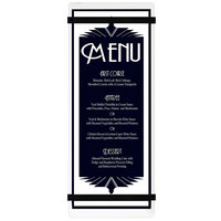 Menu Solutions ACRB-BA Clear Frosted 4 1/4 inch x 11 inch Customizable Acrylic Menu Board with Rubber Band Straps