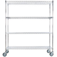 Regency 24 inch x 60 inch NSF Stainless Steel Shelf Kit with 64 inch Posts and Casters