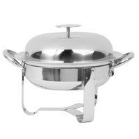 World Tableware MCD-8 45 oz. Round Stainless Steel Personal Chafing Dish Set - 12/Case