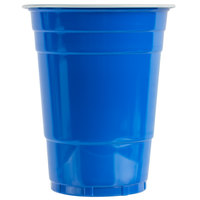 Choice 16 oz. Blue Plastic Cup - 50/Pack