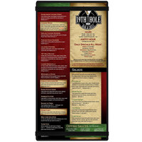 Menu Solutions ACRB-B Black 5 1/2 inch x 11 inch Customizable Acrylic Menu Board with Rubber Band Straps