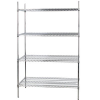 Regency 24 inch x 48 inch NSF Stainless Steel Shelf Kit with 74 inch Posts