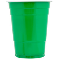 Choice 16 oz. Green Plastic Cup - 50/Pack