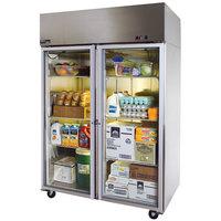 Master-Bilt MNR522SSG/0 Endura 55 inch Glass Door Reach-In Refrigerator