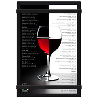 Menu Solutions ACRB-A Black 5 1/2 inch x 8 1/2 inch Customizable Acrylic Menu Board with Rubber Band Straps