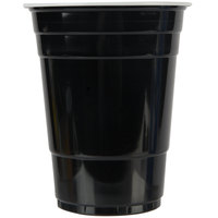 Choice 16 oz. Black Plastic Cup - 50/Pack