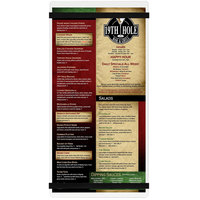 Menu Solutions ACRB-B Clear Frosted 5 1/2 inch x 11 inch Customizable Acrylic Menu Board with Rubber Band Straps