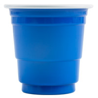 Choice 2 oz. Blue Plastic Shot Cup - 50/Pack