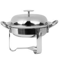 World Tableware MCD-7 25 oz. Round Stainless Steel Personal Chafing Dish Set - 12/Case