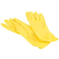 Large Multi-Use Yellow Rubber Fully Lined Gloves, Pair - 12/Pack
