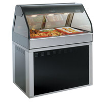 Alto-Shaam EU2SYS-48/P BK Black Cook / Hold / Display Case with Curved Glass and Base - Self Service, 48 inch
