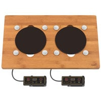 Rosseto BP007 Multi-Chef Bamboo Double Induction Warmer with Magnets - 110V, 600W