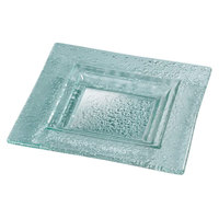 Rosseto GSP08 8 inch Green Glass Small Square Platter