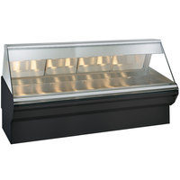 Alto-Shaam EC2SYS-96/PR S/S Stainless Steel Heated Display Case with Angled Glass and Base - Right Self Service 96 inch