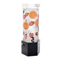 Rosseto LD119 2 Gallon Clear Acrylic Honeycomb Beverage Dispenser with Black Gloss Base