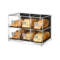 Rosseto BD115 6 Drawer Acrylic Bakery Display Case - 19 1/4 inch x 12 inch x 13 3/4 inch