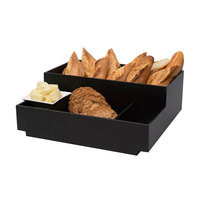 Rosseto BD113 4 Compartment Black Acrylic Condiment Holder