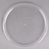 Choice 6 and 8 Qt. Clear Round Polycarbonate Food Storage Container Lid