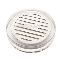 Rosseto LD127 Acrylic / Stainless Steel Round Drip Tray - 4 inch x 4 inch x 1 inch