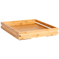 Rosseto BD132 Natura Large Bamboo Tray - 19 7/16 inch x 19 7/16 inch x 3 1/2 inch
