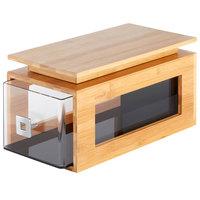 Rosseto BD130 Natura Natural Bamboo Bakery Block Cap - 14 5/8 inch x 5 inch x 1 3/8 inch