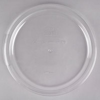 Choice 12, 18, and 22 Qt. Clear Round Polycarbonate Food Storage Container Lid