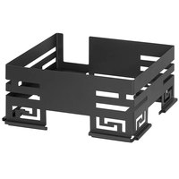 Rosseto SM247 Mini-Chef 15 inch x 13 inch x 6 7/8 inch Black Matte Steel Butane Frame with Burner Stand