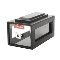 Rosseto BD111 Small Drawer Black Acrylic Bakery Building Block - 8 inch x 14 3/4 inch x 7 1/2 inch