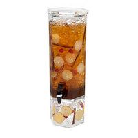 Rosseto LD105 2 Gallon Clear Acrylic Honeycomb Beverage Dispenser with Acrylic Base